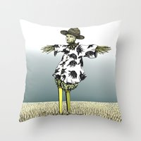 Crow Serie :: Scarecrow Henry Throw Pillow