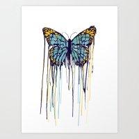 Melting Monarch (collab … Art Print