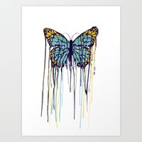 Melting Monarch (collab … Art Print