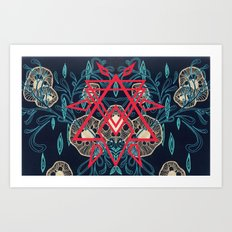 Abstract Symmetrical Art Print