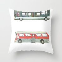Buses Throw Pillow