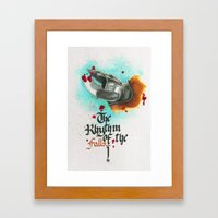 The rhythm of the falls Framed Art Print