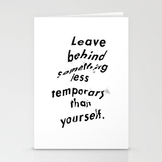 Leave something behind Stationery Card