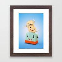 Happy Toaster Framed Art Print