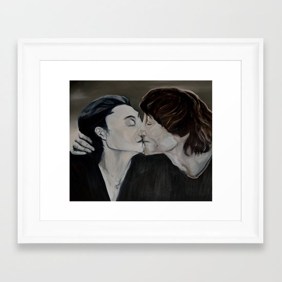 yoko and john  Framed Art Print