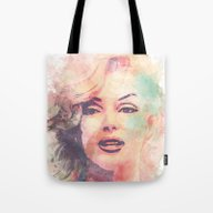 Tote Bag featuring Marilyn Monroe by Nechifor Ionut