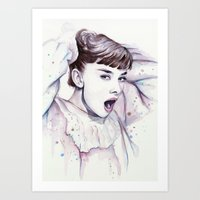Audrey Hepburn Watercolo… Art Print