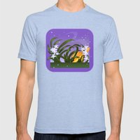 The Flowering of the Universe Mens Fitted Tee Tri-Blue SMALL