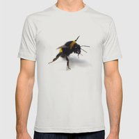 Bee 4 Mens Fitted Tee Silver SMALL