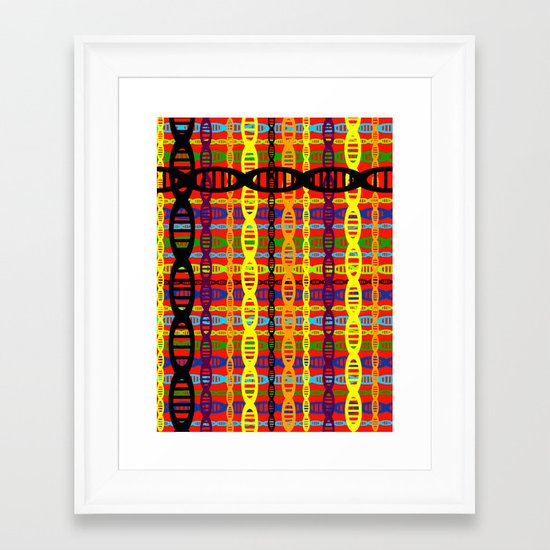 DNA Plaid Framed Art Print