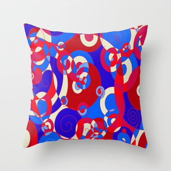 red white and blue throw pillow by rokinronda society6