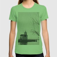 Lights On Womens Fitted Tee Grass SMALL