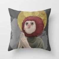 Owl Messiah Throw Pillow