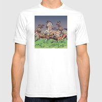 African Wild Dog Mens Fitted Tee White SMALL