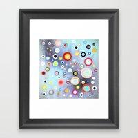 Nebulous Blue Abstract C… Framed Art Print
