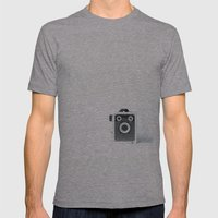 Retro Camera - Vintage Mens Fitted Tee Athletic Grey SMALL