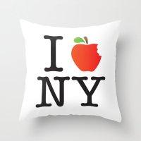The Big Apple Throw Pillow
