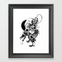 Silver And The Beast Framed Art Print