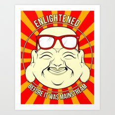 Hipster Budai Art Print