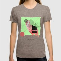 Natural Living Womens Fitted Tee Tri-Coffee SMALL