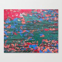 Chipping Paint Canvas Print