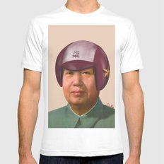 Helmet Mao SMALL White Mens Fitted Tee