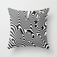Trippy Background Throw Pillow
