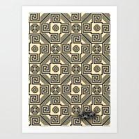 Kagome Fret Lattice. Art Print