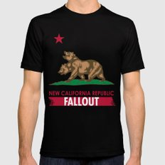 New California Republic SMALL Mens Fitted Tee Black