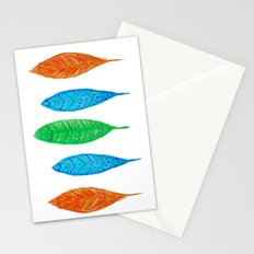 Colorful Feathers Stationery Cards