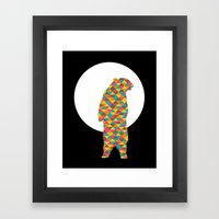 Bear Moon Framed Art Print