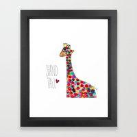 .giraffe. Framed Art Print