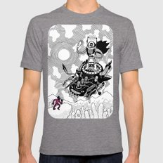 So We Meet Again! Mens Fitted Tee Tri-Grey SMALL