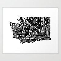 Typographic Washington Art Print