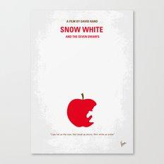 No252 My SNOW WHITE minimal movie poster Canvas Print