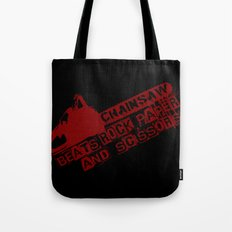 chainsaw wins Tote Bag
