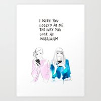 I Wish You Looked At Me … Art Print