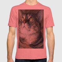 Kitty Cat Mens Fitted Tee Pomegranate SMALL