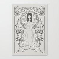 Reine des Cygnes (Grey) Canvas Print