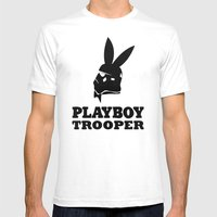 Playboy Trooper  Mens Fitted Tee White SMALL