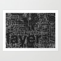 Layer. Art Print