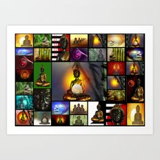 Buddha Collage 3 Art Print