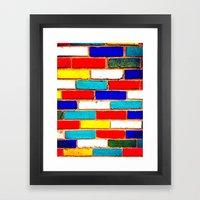 Vibrant Brick Framed Art Print