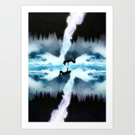 Two Worlds One Heart Art Print