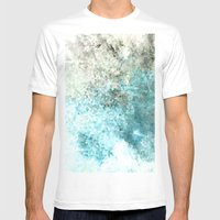 RandomTHREE Mens Fitted Tee White SMALL