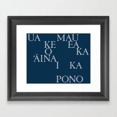 Hawaii (in Hawaiian) Framed Art Print