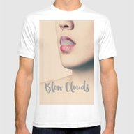 Blow Clouds Mens Fitted Tee White LARGE
