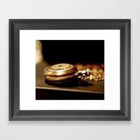 Time Framed Art Print