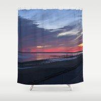 Magic Summer Sunset on the West Coast of DENMARK Shower Curtain