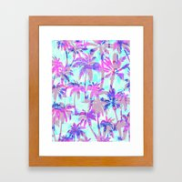 Maui Palm {Pink} Framed Art Print